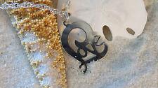 Silver Plate & Silver Plate Love Anklet Ankle Bracelet Sterling