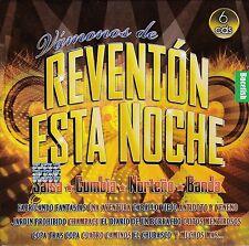 Salsa,Cumbias,Nortenas,Banda Vamonos de Reventon 6CD Caja de Carton