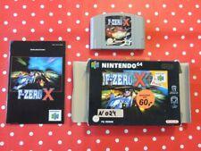 F-Zero X Nintendo 64 n64 en neuf dans sa boîte avec mode d'emploi