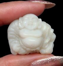 20.70 Ct. NATURAL AUSTRALIAN OPAL HAPPY BUDDHA CARVING 4 JEWELRY/ COLLECTIBLE