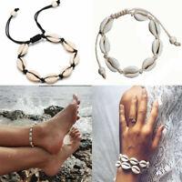 Handmade Sea Shell Seashell Cowrie Friendship Bracelet Anklet Summer Beach Surf
