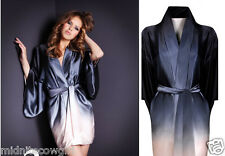 Agent Provocateur Kimono silk gown S M boxed shades of grey ombre Veronika