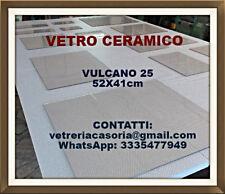 """VETRO ceramico per termocamino """"VULCANO 25"""" [41x52cm]"""