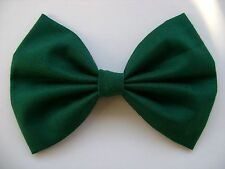 NEW FABRIC HAIR BOW W/ Alligator Clip * GREEN * Handmade* FREE SHIPPING ********