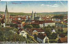 AK Esslingen, Ansichtskarte von 1918, coloriert