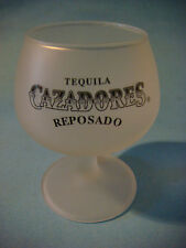 Frosted Liquor Shot Cocktail Drink Tulip Stem Glass ~ CAZADORES Reposado Tequila