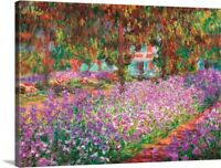 Monet's Garden at Giverny, by Claude Canvas Wall Art Print,  Home Decor