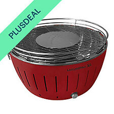 LotusGrill XL 40,5 cm raucharm Holzkohlegrill Tischgrill Grill - Rot