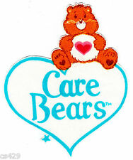 "4.5"" CARE BEARS TENDERHEART HEART LOGO CHARACTER NOVELTY FABRIC APPLIQUE IRON ON"