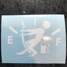 "4"" Gas Gauge Stickman Vinyl Decal Mpg Car Window LOTS OF COLORS"