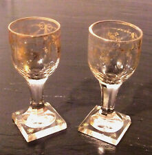 Pair Of Glasses Gold Crystal Period Vintage Restoration
