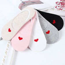 1 Pair Non-slip Love Heart Hidden Stealth Sock Cotton Boat Shallow Sock Trendy
