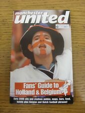 2000 Manchester United: Paperback Book - Fans Guide To Holland & Belgium, Pocket
