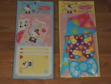 LOT OF 2 SANRIO 2004 HELLO KITTY BIRTHDAY PARTY FUN MAGIC SET CARDS & STREAMERS