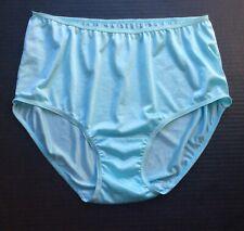Vtg Comfort Choice Aqua Blue Nylon Sissy Granny Panties Briefs Size 8 Xl