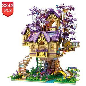 Creative Cherry Tree House Street View Brick Model Building Blocks Girl Assembly