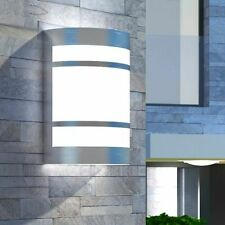 vidaXL Lámpara de Pared de Exterior Semicilíndrica Acero Inox Aplique Jardín