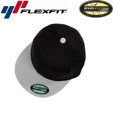 Flexfit 210 Premium Flat Flatcap L/XL Schwarz Grau