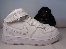 Babies Nike Air Force 1 Mid All White Basketball  shoes Toddlers size 13.5C