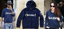 NEW CHANEL VIP CHRISTMAS 2013 NAVY BLUE HOODIE SWEATSHIRT TOP S SMALL UNISEX