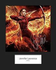 JENNIFER LAWRENCE #3 Signed Photo Print 10x8 Mounted Photo RePrint - FREE DEL