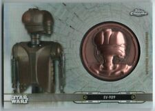 2019 Star Wars Chrome Legacy Droid Medallions DC-EV EV-9D9 47/99