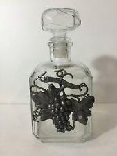 N20 Antik Karaffe Whisky Aus Glas Und Zinn: 20,5 Cm Siehe Bilder