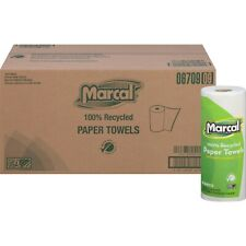 Marcal 6709  100% Recycled, Paper Towels 60 Sheets/Roll, 15 Rolls