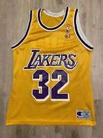 VTG Champion Earvin Magic Johnson Jersey LA Lakers NBA #32 - Vintage 90s Size 40