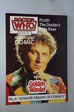 DOCTOR WHO GOLDEN WONDER MARVEL ADVENTURE COMICS N º 6 de 6 1986