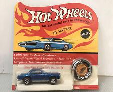 E26 Mattel VINTAGE 1969 HOT WHEELS REDLINE BLUE Mercedes-Benz 280SL Unpunched