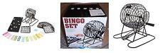 Tombola Bingo Set lotto 18 cartelle 150 gettoni ruota estrazioni in metallo