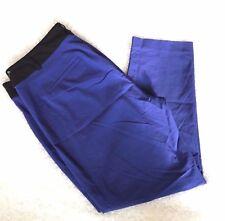 Lane Bryant Dress Pants Ankle Sophie Leg Royal Blue Black Stretch Plus Sz 28
