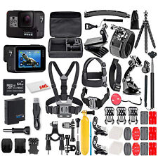 New ListingGoPro Hero7 Black - With 64Gb Micro Sd Card and 50 Piece Accessory Kit