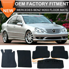 For 01-07 Benz W203 C-Class Floor Mats Carpet Front & Rear Nylon Black 5PC