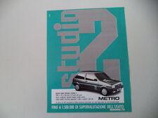advertising Pubblicità 1988 AUSTIN ROVER METRO STUDIO 2