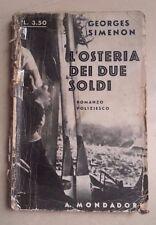 L'OSTERIA DEI DUE SOLDI SIMENON 1932 MONDADORI