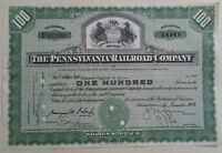 1954 The Pennsylvania Railroad Company 100 Share Certificate Scripophily