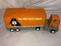 Vintage TONKA Allied Van Lines Pressed Steel Semi Truck & Trailer
