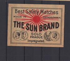 Ancienne étiquette de paquet allumettes Tchécoslovaquie  AD51   Soleil  3
