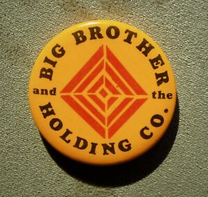 Vintage Big Brother And The Holding Co,  Janis Joplin,  Pin Badge Button Pinback