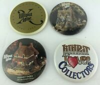 Lilliput Lane David Winter Cottages Buttons Pin Lot of 4 10th Anniversary