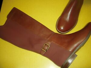 Clarks Collection Camzin Tree-WC Leather Wide Calf Tall Boots Women 9.5 M Brown