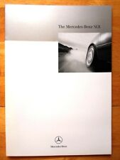 MERCEDES SLK Class 1996 UK Market sales brochure