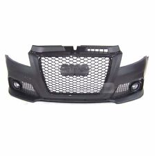 RS Style Front Bumper Black Flame Mesh ABS Grille For AUDI 2008-2011 A3 8P
