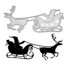 Metal Cutting Die - SANTA SLEIGH CHRISTMAS - Embossing - Scrapbooking -Crafting