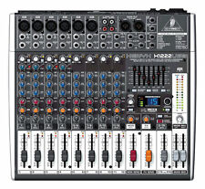 NEW Behringer XENYX X1222USB 16-Input Live Sound Mixer Board w/ USB & FX EQ