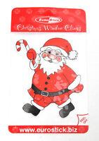 Christmas Santa Reusable Window Clings Presents Candy Cane