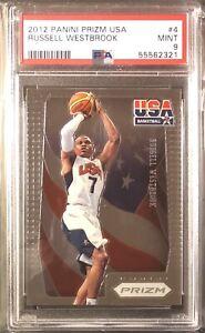 Russell Westbrook 2012-13 Panini Prizm USA Basketball #4 PSA 9 Mint Wizards MVP