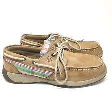 Girls Sperry Top-Side Intrepid Boat Shoes Loafers Youth Size 7Y Tan